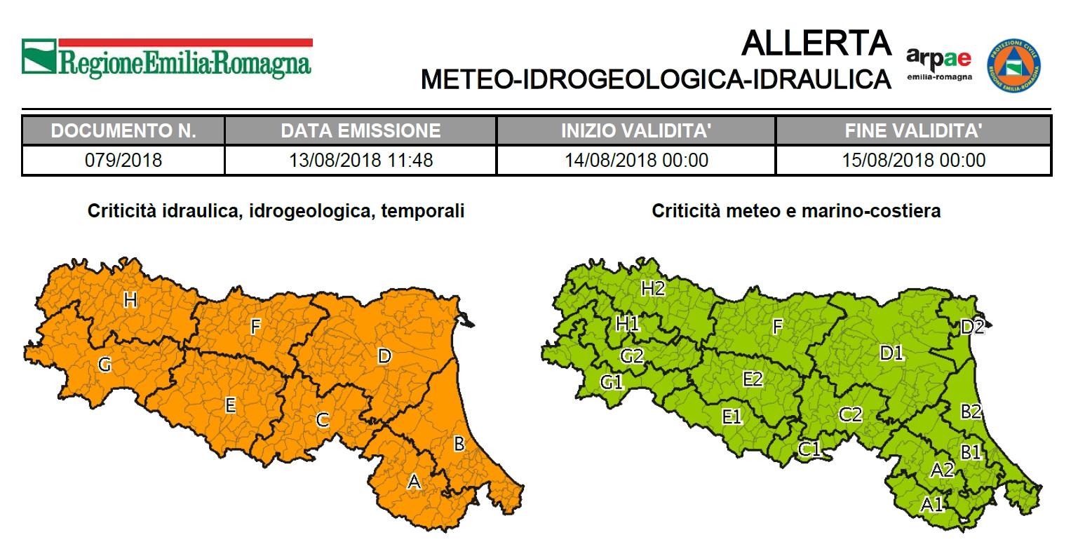 Allerta meteo della regione Emilia Romagna - Città di Vignola ... 5521962fab9